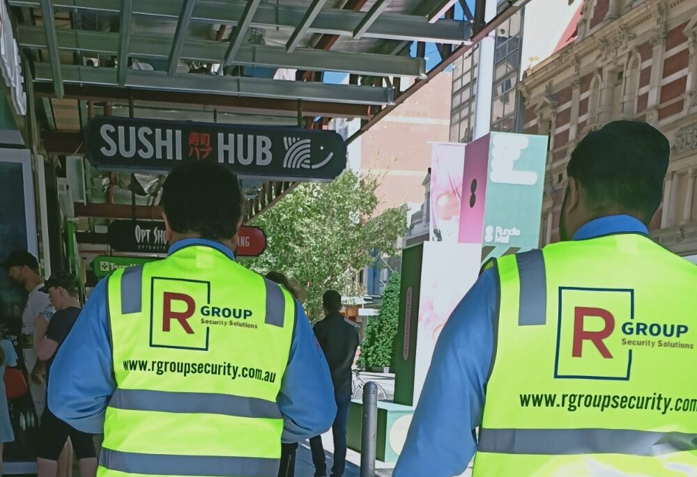 Rgroup Security guard Protecting People On the Streets